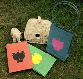 Elephant Poo Paper Carry Bags from Haathi Chaap