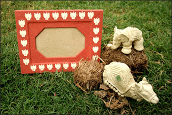 Elephant Poo Paper Photo Frames from Haathi Chaap